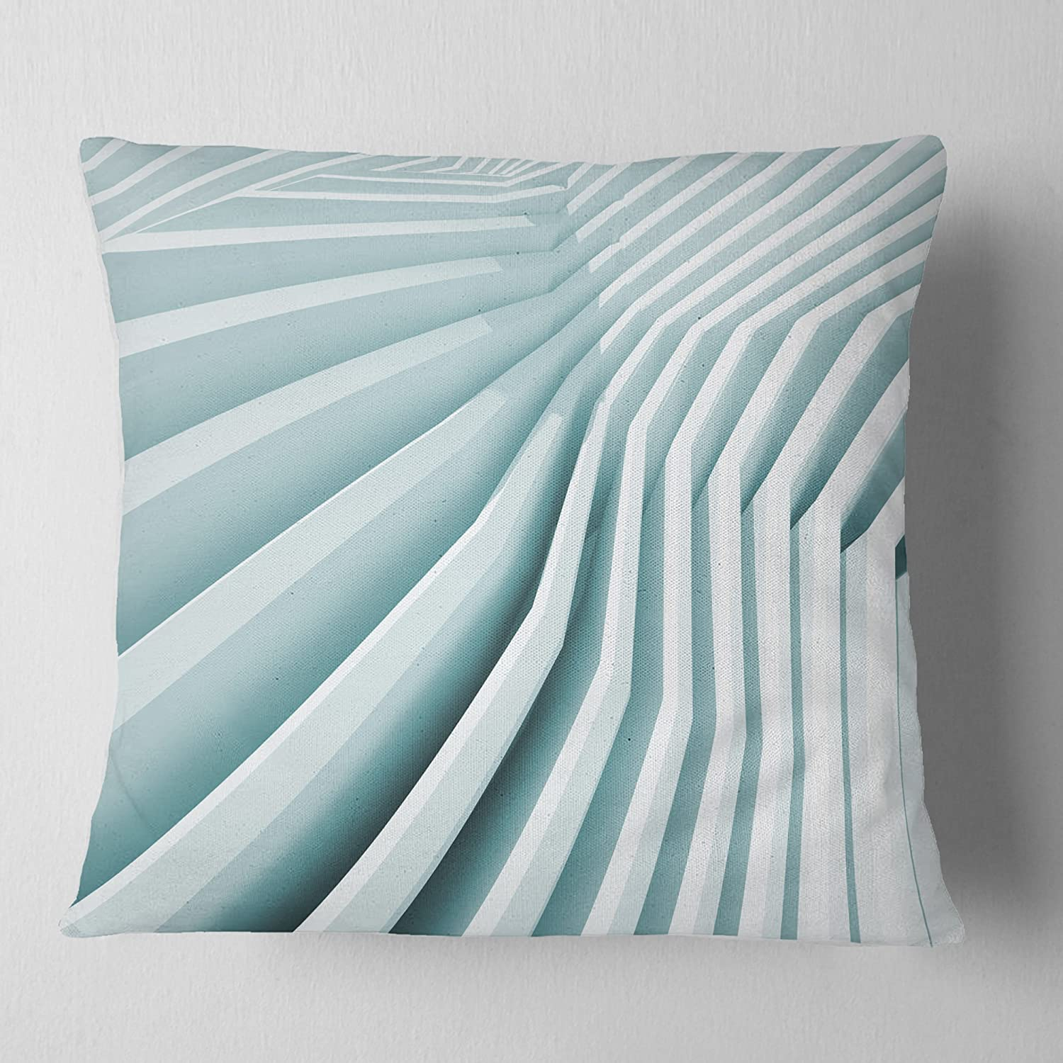 Designart CU9379-18-18 Fractal Architecture 3D Waves Contemporary Cushion Cover for Living Room x 18 in in Sofa Throw Pillow 18 in Insert Printed On Both Side
