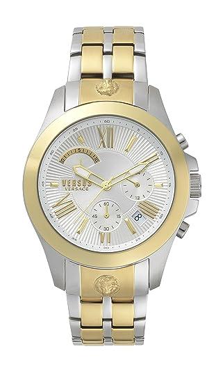 Versus by Versace Reloj Analogico para Hombre de Cuarzo con Correa en Acero Inoxidable VSPBH1418: Amazon.es: Relojes