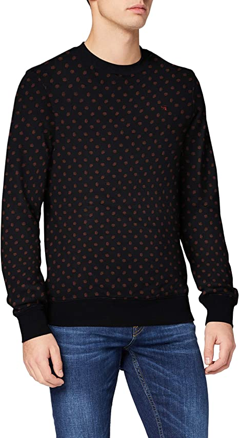 Scotch /& Soda AMS Blauw Pull with Allover Print Maillot De Corps Homme