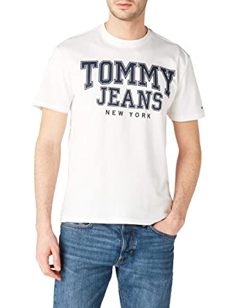 a84116a6 Tommy Jeans Essential College T-Shirt: Amazon.co.uk: Clothing
