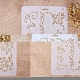 Zhuotop DIY Plantillas con diferentes patrones para pintar con aerógrafo, para manualidades y decoración, 09, 01#