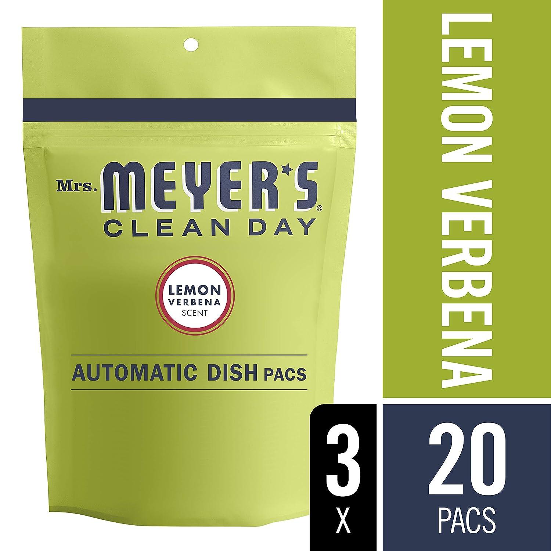 Mrs. Meyer's Clean Day Automatic Dish Packs, Lemon Verbena, 20 ct, 3 un Mrs. Meyėrs Clean Day