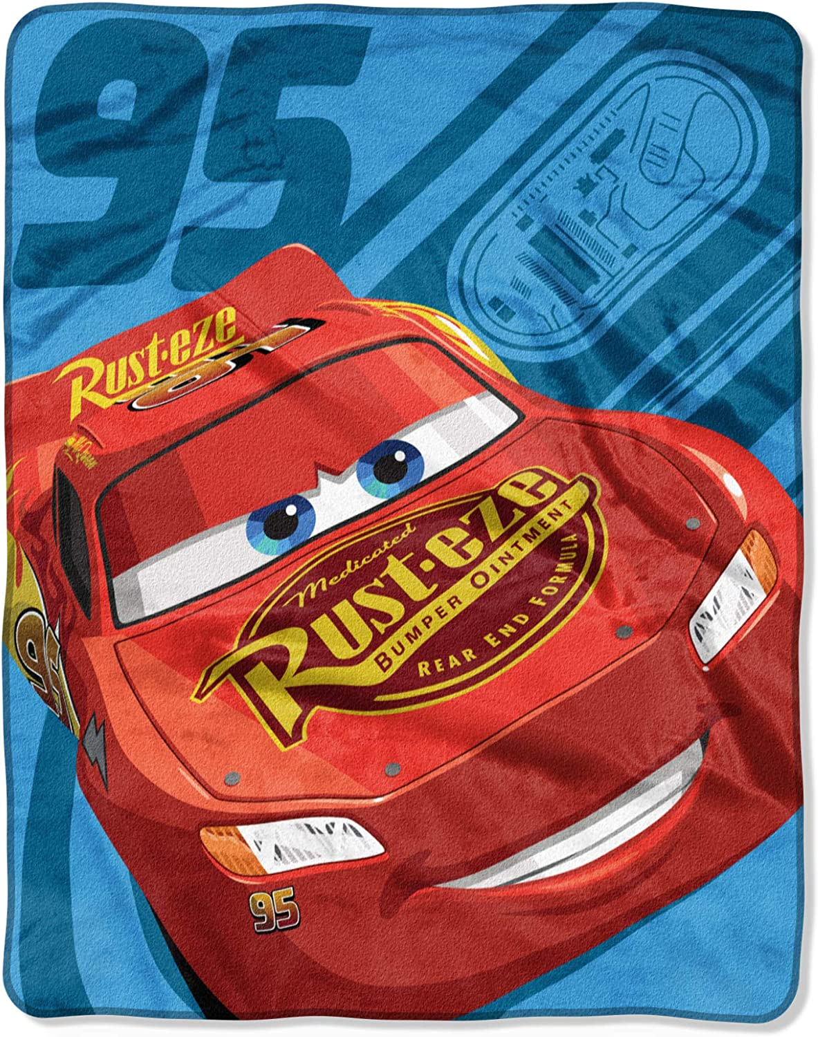 "Cars Lightning McQueen Fleece Throw Blanket 40"" x 50"""