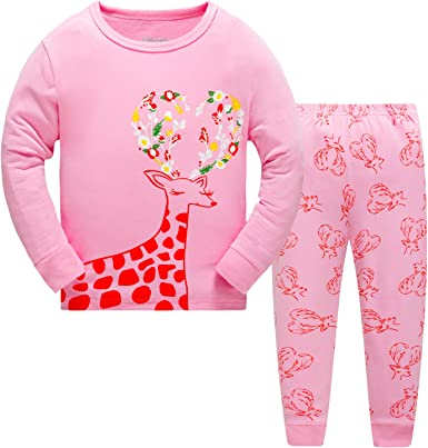 The Pyjama Factory Ensemble de Pyjama Fille Rose Rose