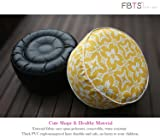 FBTS Prime Inflatable Stool Ottoman Portable Travel Bean Bag Cushion Yellow Color Indoor/Outdoor Round Inflatable Footstool Used for Camping Patio Home Office Yoga Meditation