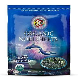 Earth Circle Organics | Raw Certified Organic Nori Seaweed | Grade