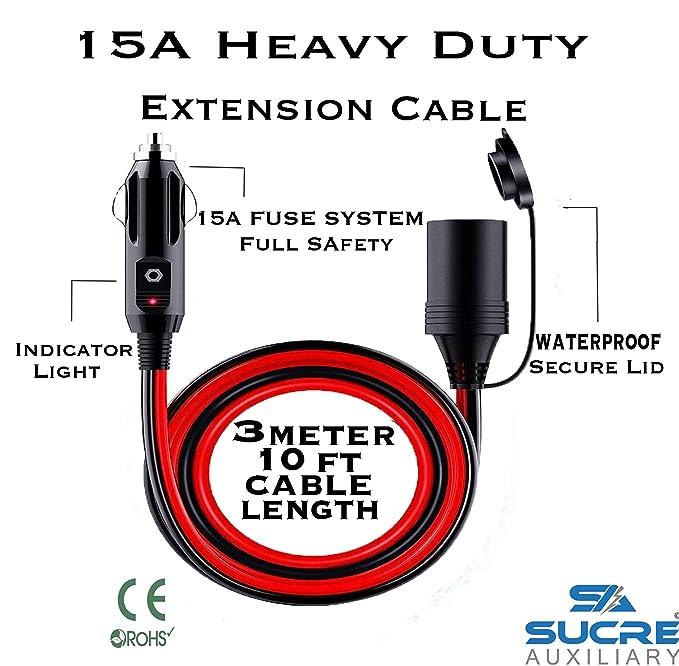 1 opinioni per 12–24V 15A Heavy Duty Power moto auto presa accendisigari spina prolunga