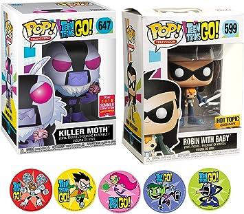 Funko BabyRobin & Moth Character Teen Titans Figure Hero Pack ...