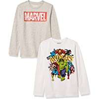 Amazon Essentials Disney Star Wars Marvel-Camiseta de Manga Larga Niños