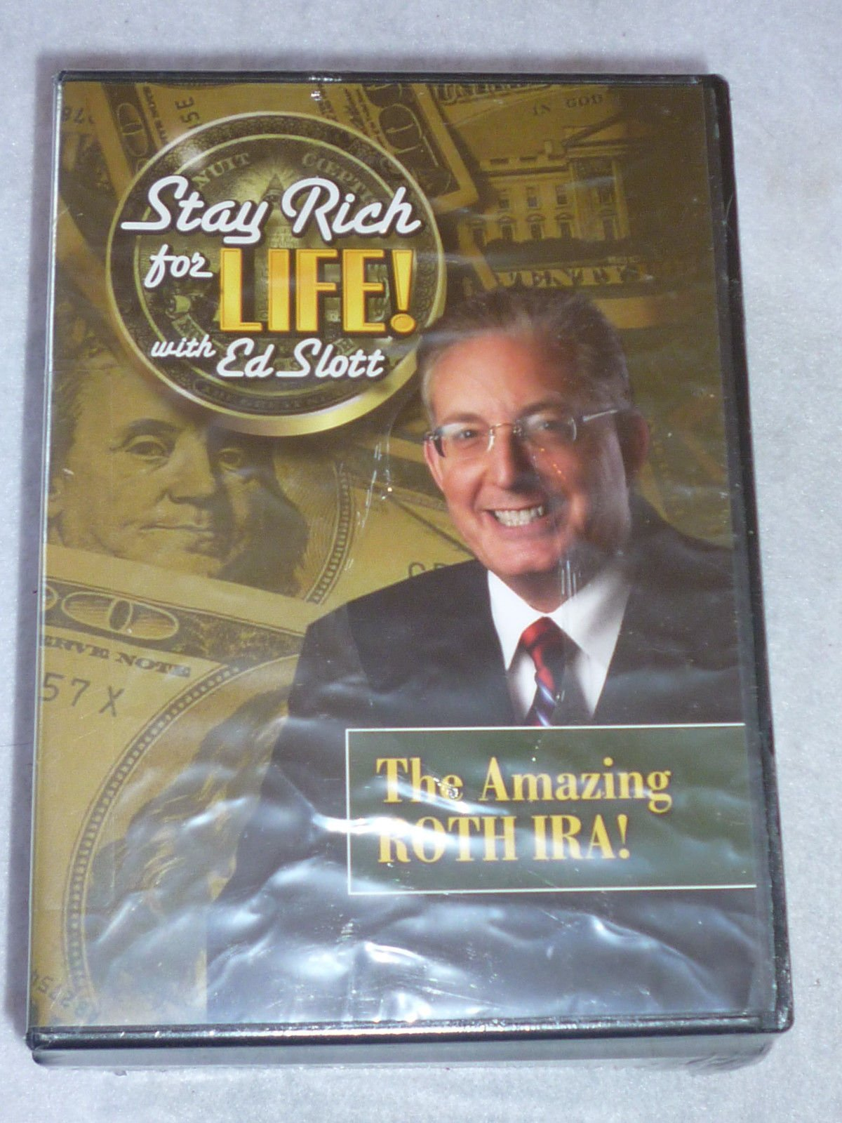Stay Rich for Life! Set of 6 DVDs & 1 Audio CD: The Amazing ROTH IRA; Top 20 Strategies for 2010; Watch Out-7 Red Flags of Financial Scams; Weathering a Financial Storm; Your Beneficiary Guide; A Public TV. Special; One on One with Ed Slott-Audio Cd