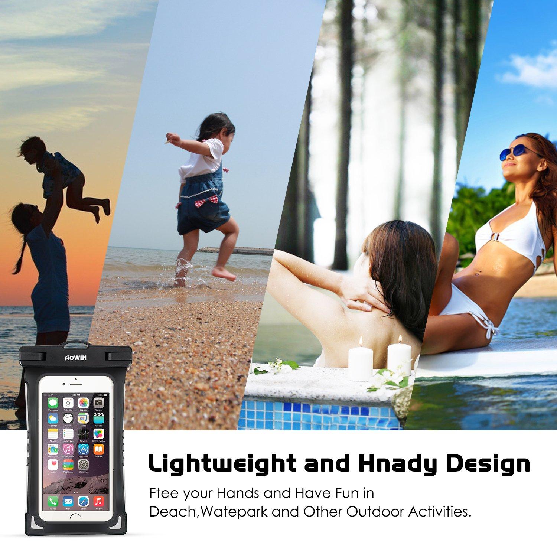 6 Zoll Datentr/äger und Smartphones bis 15,24 cm TPU Wasserfeste Universal Handyh/ülle f/ür Geld f/ürs Radfahren Angeln Ideal f/ür den Strand Wassersport AOWIN Wasserdichte H/ülle usw.