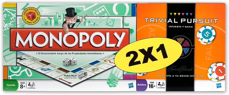 Hasbro Pack Monopoly std + Trivial Pursuit Apuesta y GANA - Pack de Dos Juegos de Mesa: Amazon.es: Juguetes y juegos
