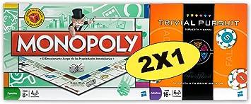 Hasbro Pack Monopoly std + Trivial Pursuit Apuesta y GANA - Pack ...