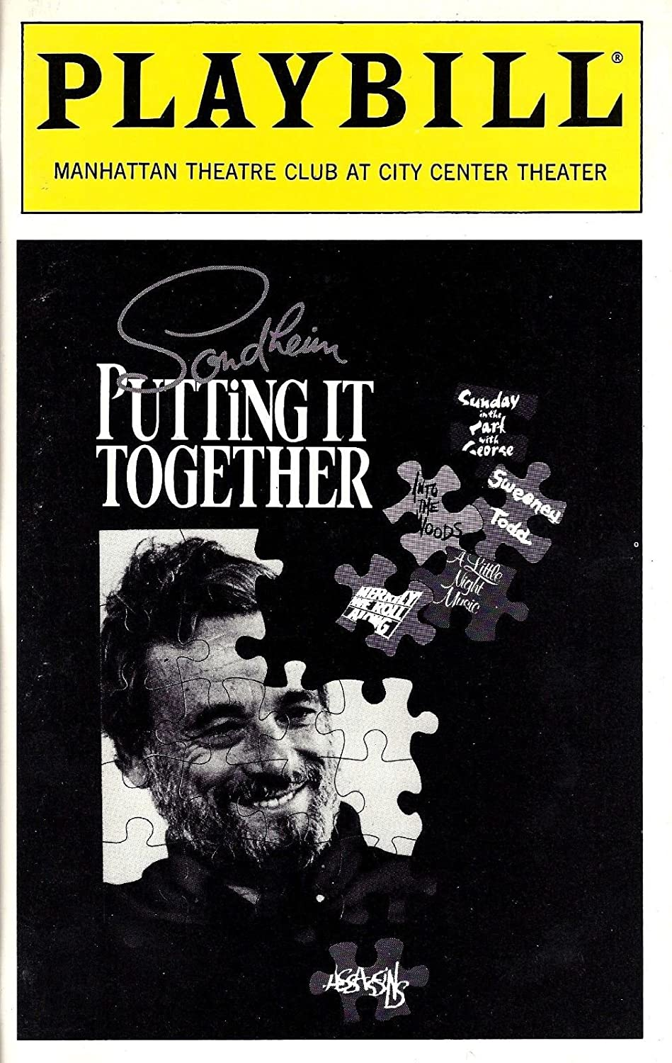 Stephen Sondheim 'PUTTING IT TOGETHER' Julie Andrews / Rachel York 1993 Playbill