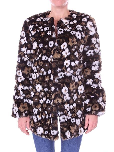 Michael Kors Giacca in Jacquard e Pelliccia Sintetica con Motivi Floreali   Amazon.it  Abbigliamento 3690268f96e