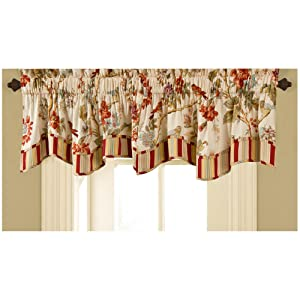 Waverly 11396050X016PPY Charleston Chirp 50-Inch by 16-Inch Window Valance, Papaya