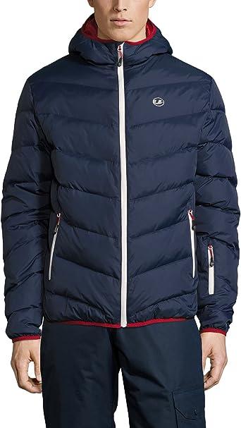 Ultrasport Advanced Chaqueta de plumas de montaña/deportes de invierno para hombre Mylo, chaqueta de esquí, chaqueta de snowboard, chaqueta de invierno, chaqueta de nieve, Azul Marino/Rojo, L: Amazon.es: Ropa y accesorios