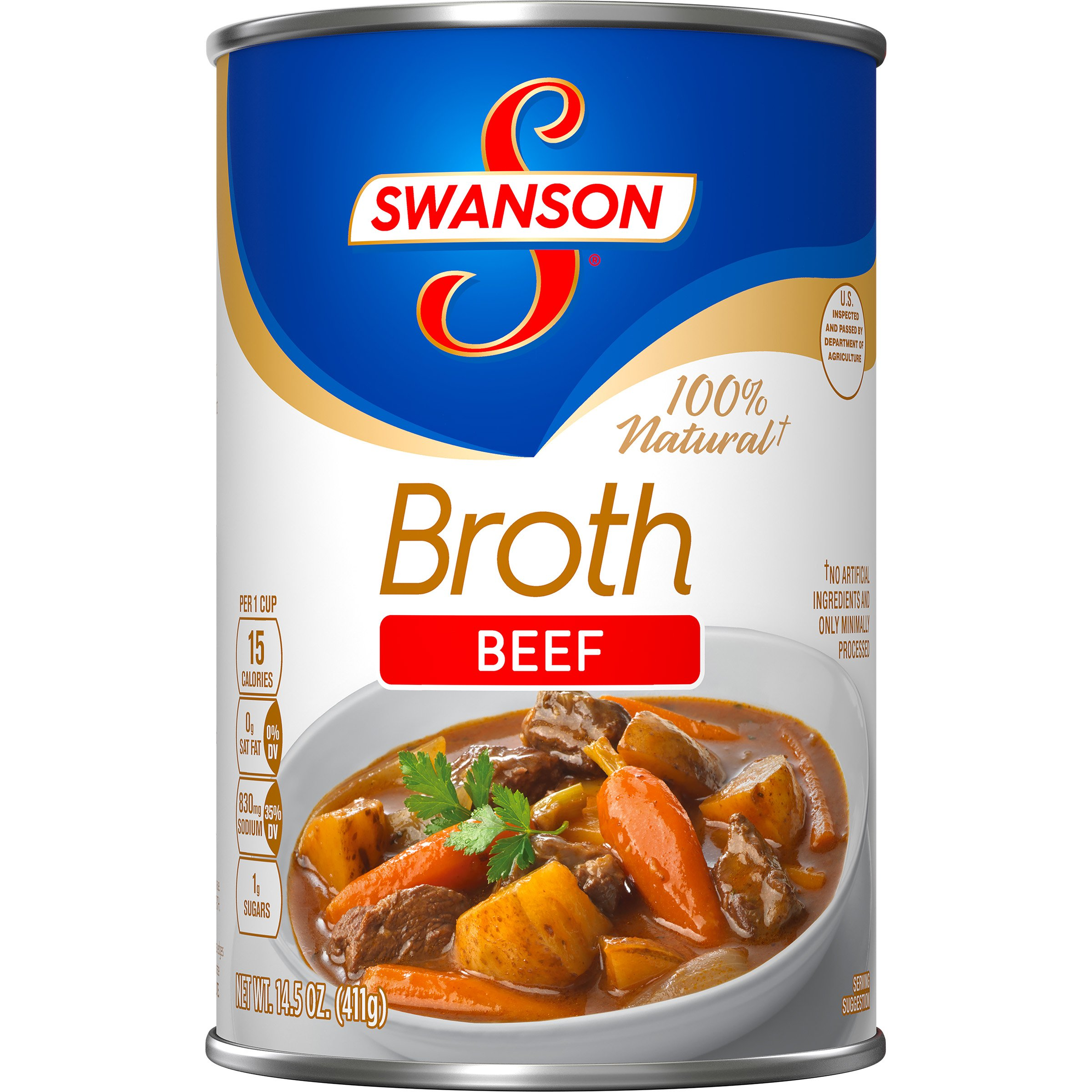 Swanson Broth, Beef, 14.5 Ounce