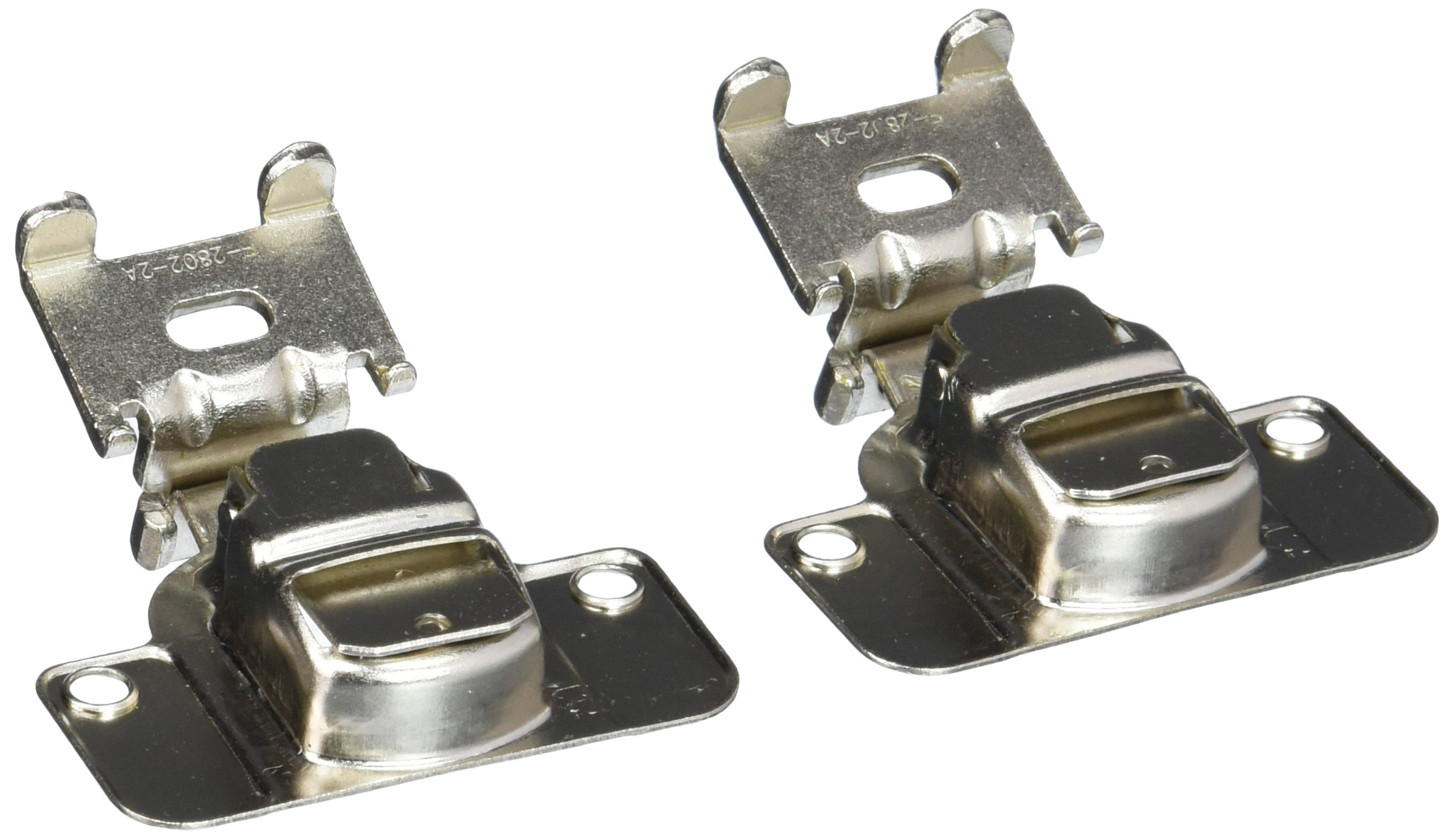 Amerock BP2811I1214 Nickel Finish Matrix Concealed 2-Way Adjustable Cabinet Hardware Hinge, 3/8-Inch Overlay - 10 Pair Pack