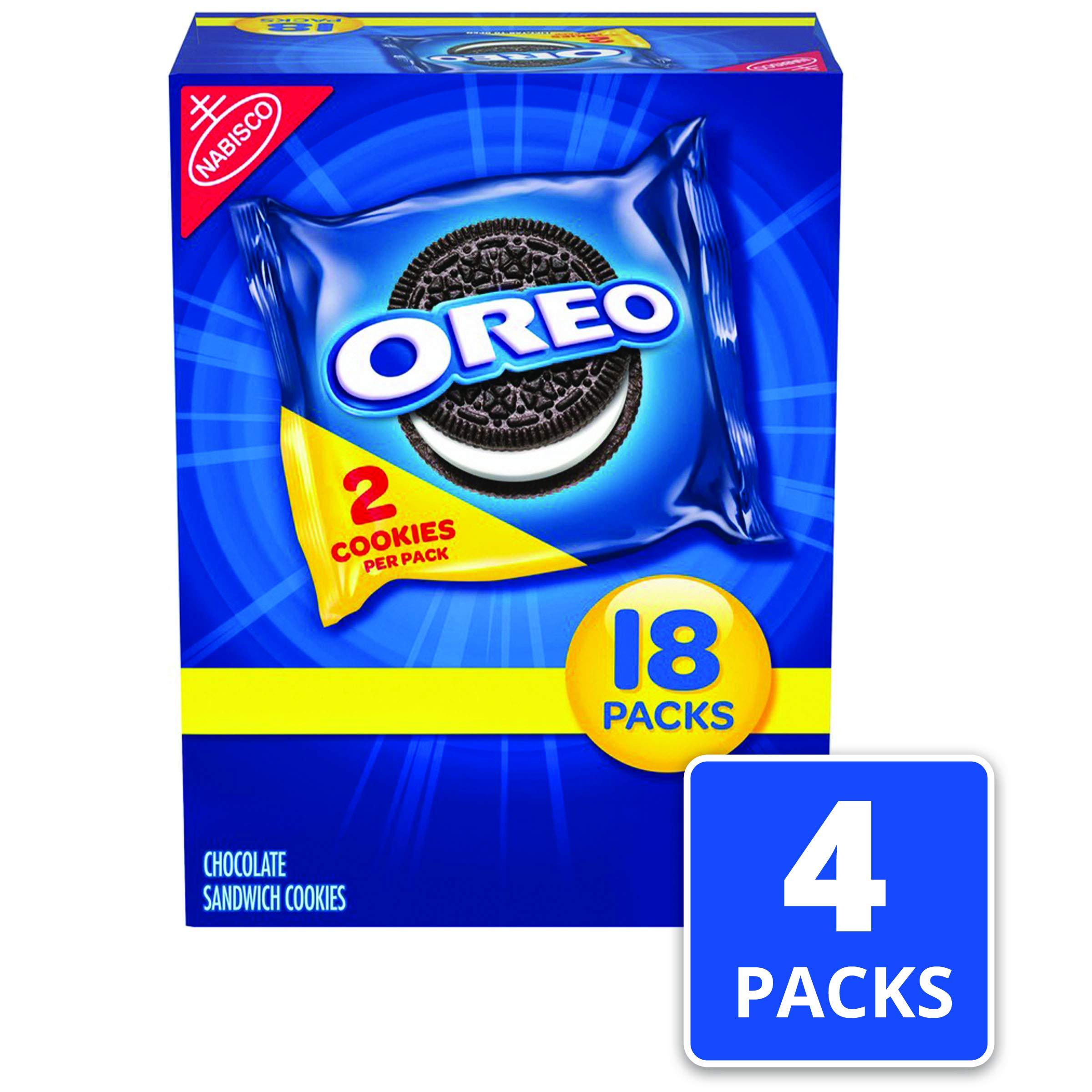 Oreo Chocolate Sandwich Cookies - 72 Snack Packs (144 Cookies Total) by Oreo