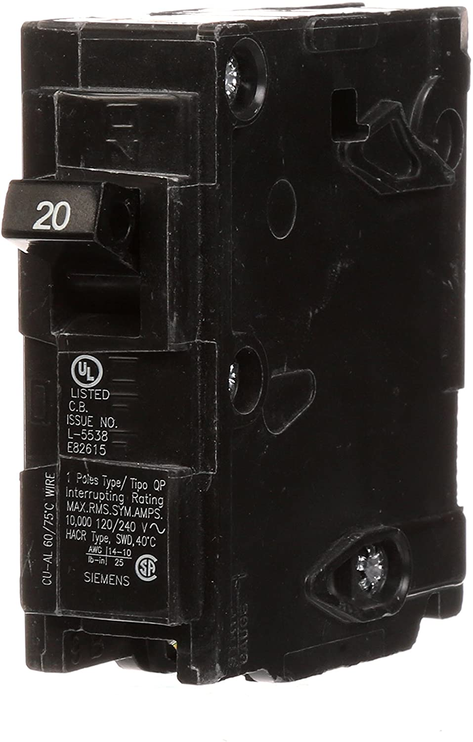Q120 20-Amp Single Pole Type QP Circuit Breaker