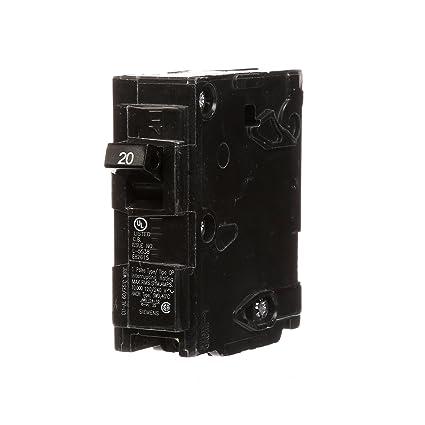 Q120 20-Amp Single Pole Type QP Circuit Breaker - Siemens Q Breaker ...