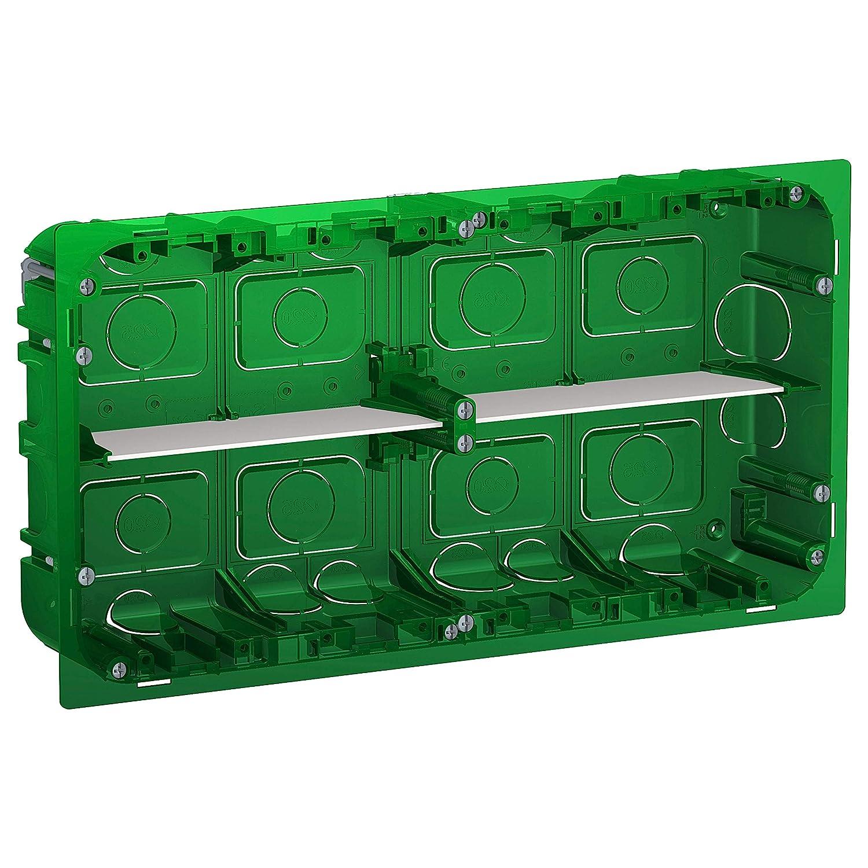 Schneider Electric NU8710 Caja empotrar 2x10 módulos: Amazon.es ...
