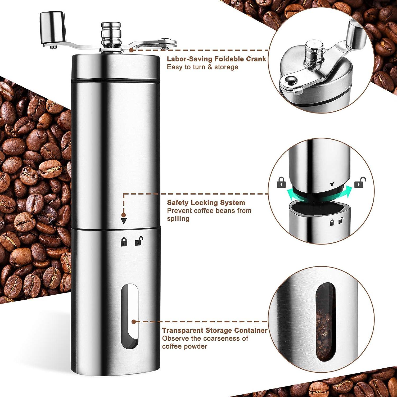 Conical Ceramic Burr DEKOHM Manual Coffee Grinder Espresso Turkish ...
