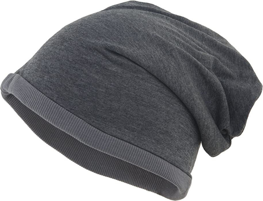 7d47c22bc63 shenky MB Heather Thin Beanies - Black Melange - Dark Grey - Plain   Amazon.co.uk  Clothing
