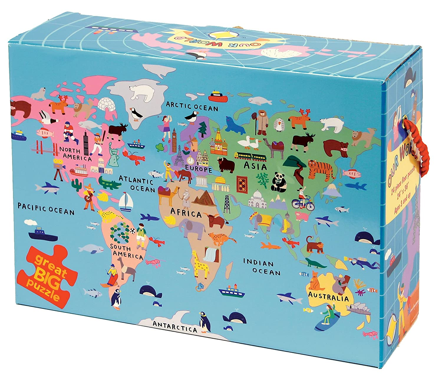 amazoncom our world floor puzzle mudpuppy toys games