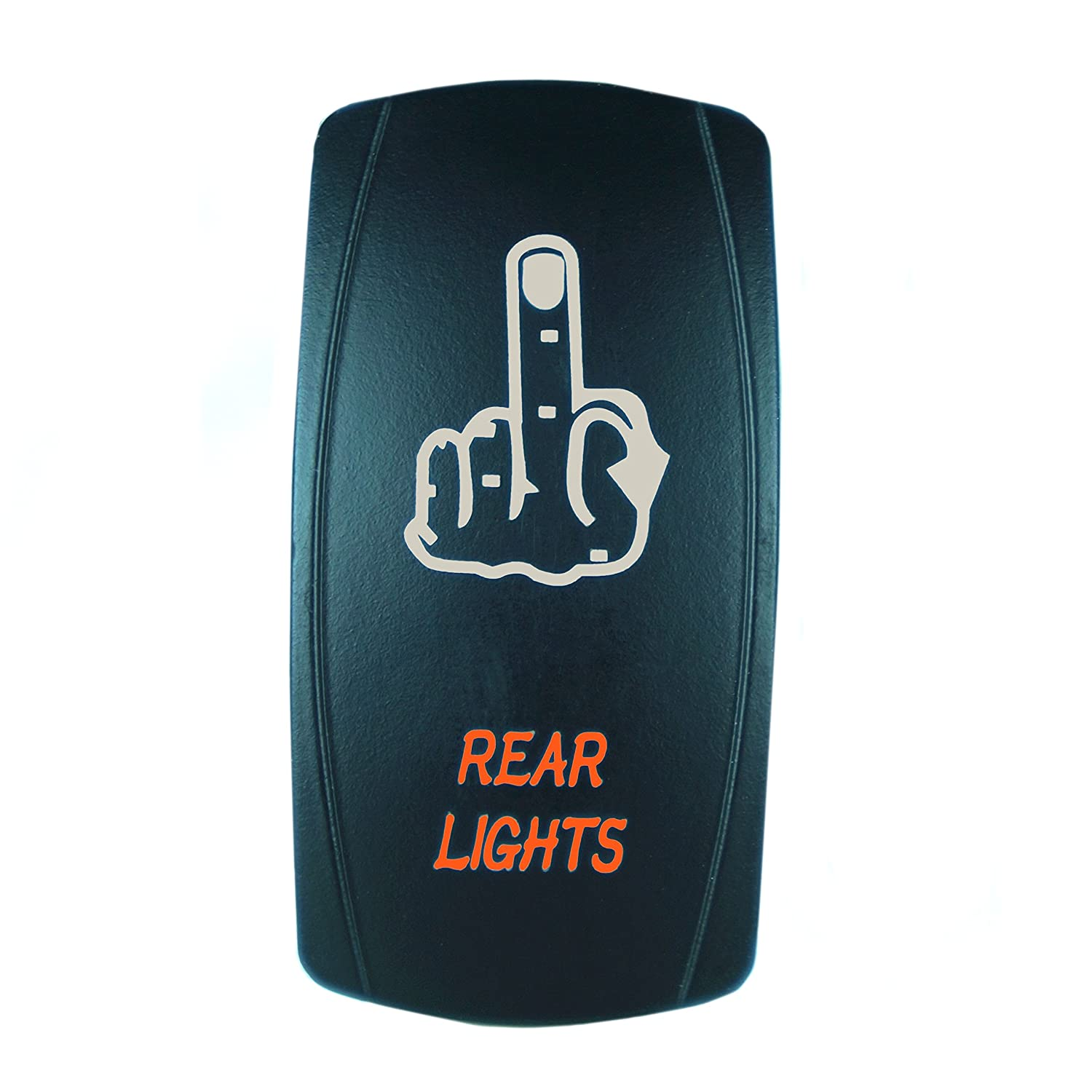 Blue Laser Rocker Switch Backlit REAR LIGHTS 12V Bright Light Powersports