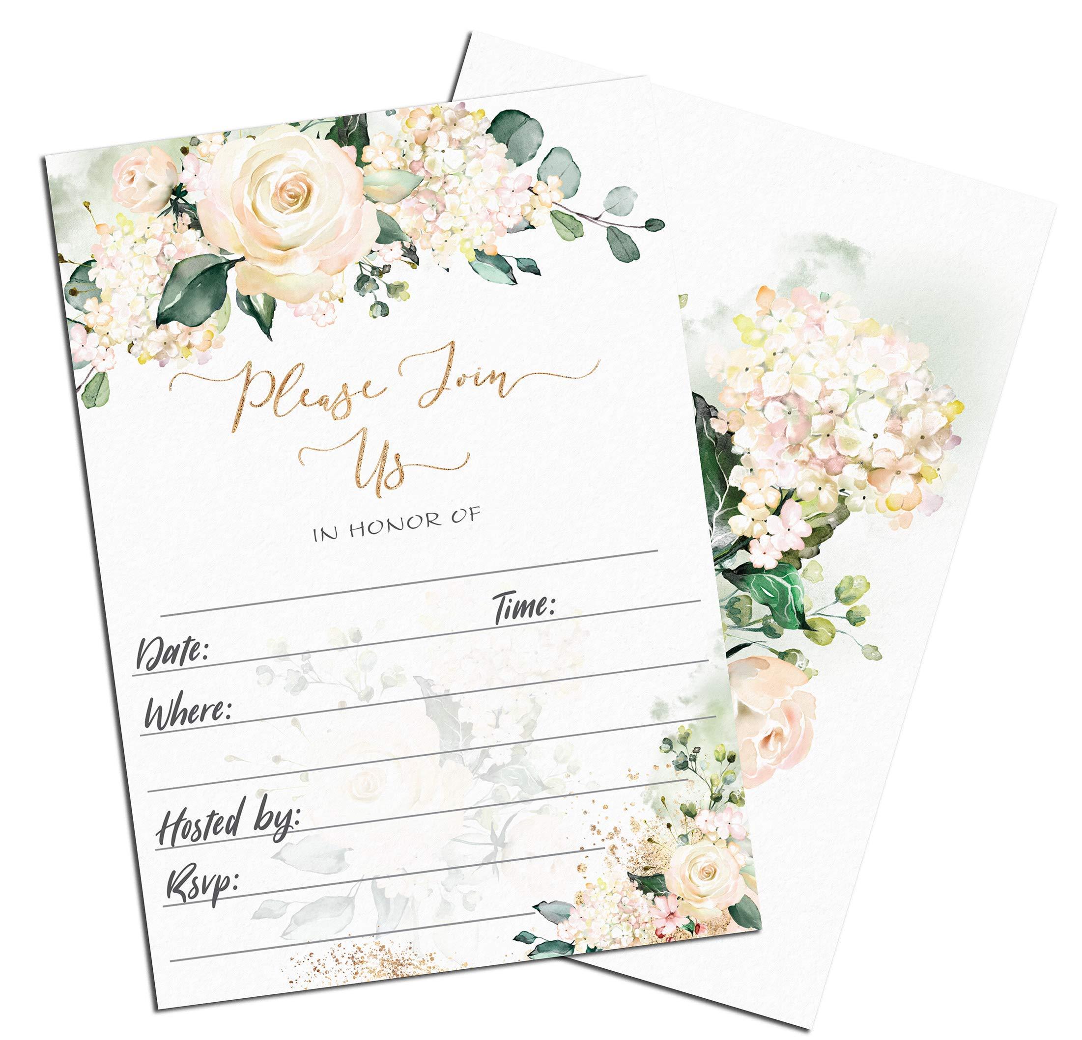 50 Sugar Vibes Linen Cardstock Invitations with Envelopes, Party Invitations with Envelopes, Birthday Invites, Shower Invitations, Gender Reveal Invitations, Invitations Cards