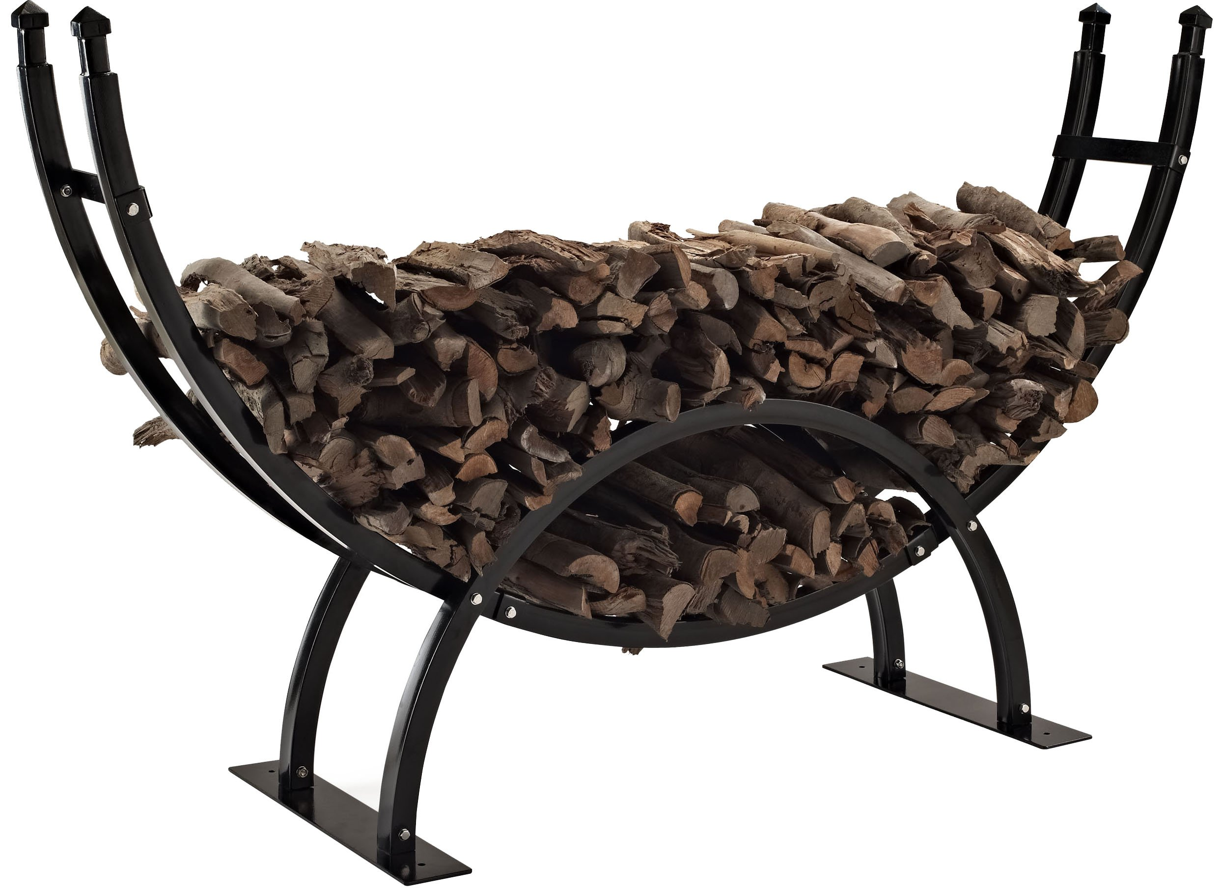 Crosley Furniture Gunnison Firewood Storage Rack - Black