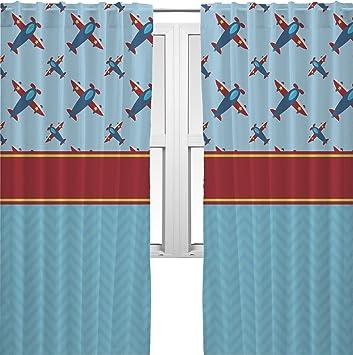 Airplane Theme Curtains   40u0026quot;x54u0026quot; Panels   Lined (2 Panels Per Set