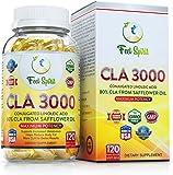 FeelSpirit CLA 3,000mg Maximum Strength | Non-GMO | Conjugated Linoleic Acid CLA / Tonalin Safflower Oil In CLA Weight Loss Supplements | 100% Money Back Guarantee | Made In USA | 120 Softgels