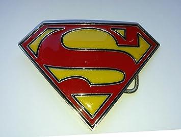 c3b64bc001de Choppershop Superman Classic Symbol Métal Boucle de Ceinture  Amazon ...