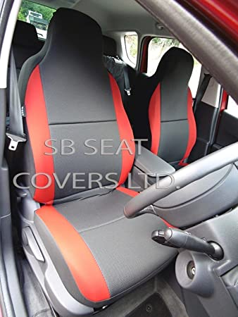 To Fit A Kia Cee D Gt Car Front Seat Covers Black And Cherry Red