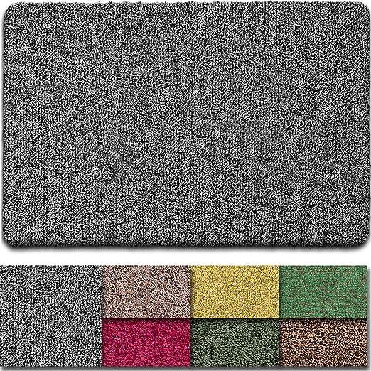 Beau Jardin - Felpudo de interior, alta absorción de barro, parte trasera de látex antideslizante, para puerta delantera, interior, para entrada, de algodón, lavable a máquina: Amazon.es: Jardín