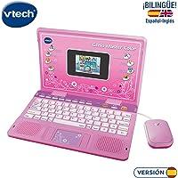 VTech- Ordenador Genio Master Color bilingüe Rosa, única