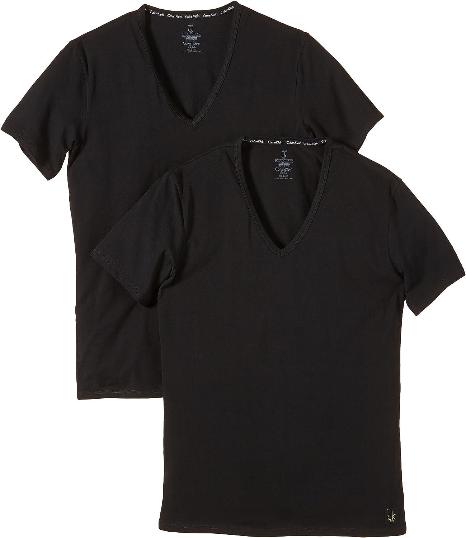 Calvin Klein Underwear Camiseta Interior, Opaco (Pack de 2) para Hombre