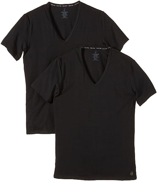 Calvin Klein underwear 0000U8511A - Camiseta interior, con cuello de pico para hombre: Amazon.es: Ropa y accesorios
