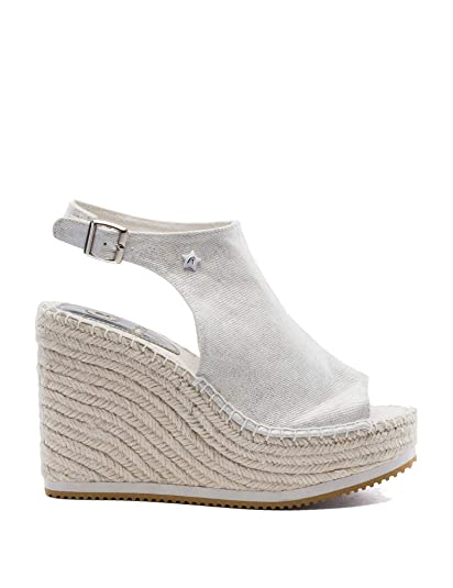 777caa83edf89 REPLAY Women's White Wedges: Amazon.co.uk: Shoes & Bags