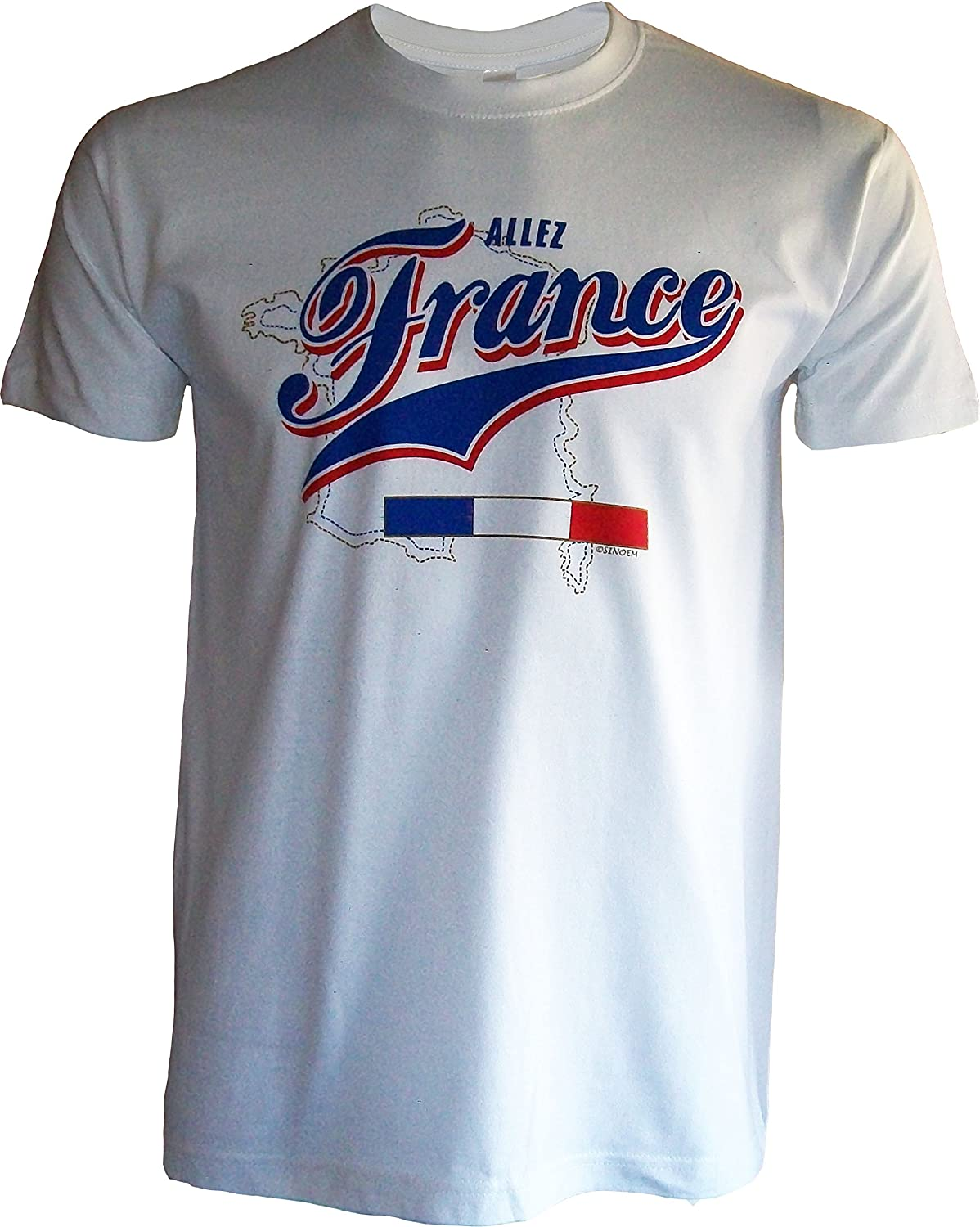 Taille Adulte Homme Collection Supporter A chacun son Pays T-Shirt France