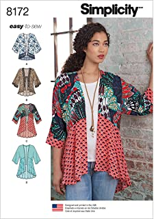product image for Simplicity 8172 Kimono Sewing Pattern for Women, Sizes A (XXS-XXL)