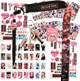 Blackpink Gifts Set - 32Pcs Blackpink Lomo Cards/12 Sheet of Stickers/ 1 Phone Ring Holder/ 1 Lanyard/ 1 Keychain/ 1 Pen/ 2 Tattoo Stickers