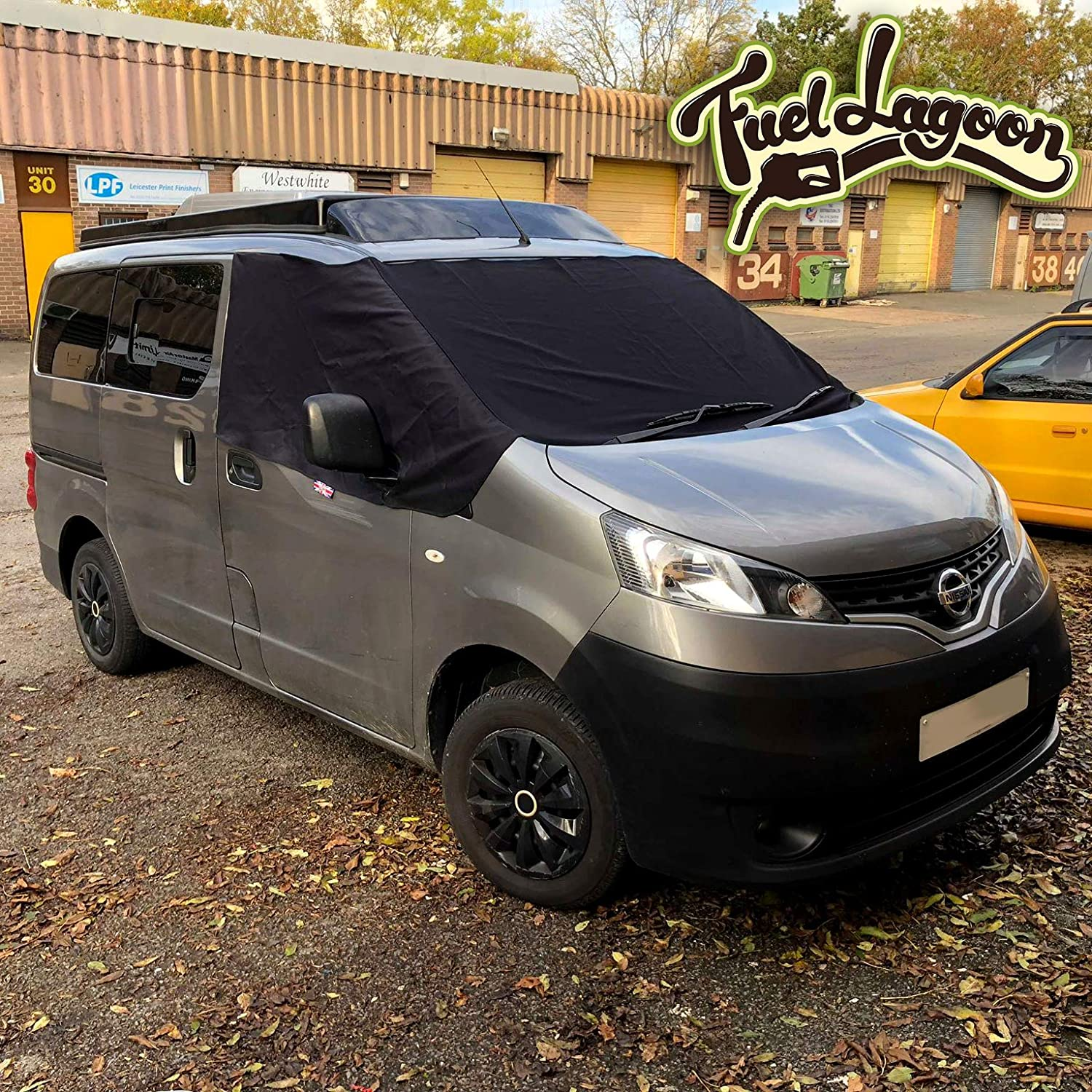 Fuel Lagoon NV200 screen cover black out wrap curtains fue lagoon