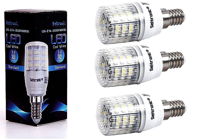 Juego de 3 bombillas LED (Casquillo E14 Seitronic con 3 W, 260 lúmenes y