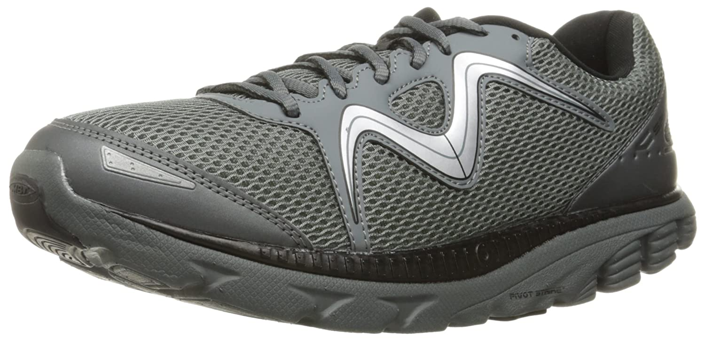 MBT Men's Speed 16 Running Shoe B01CK2CRF6 7.5 D(M) US|Black/Cool Grey