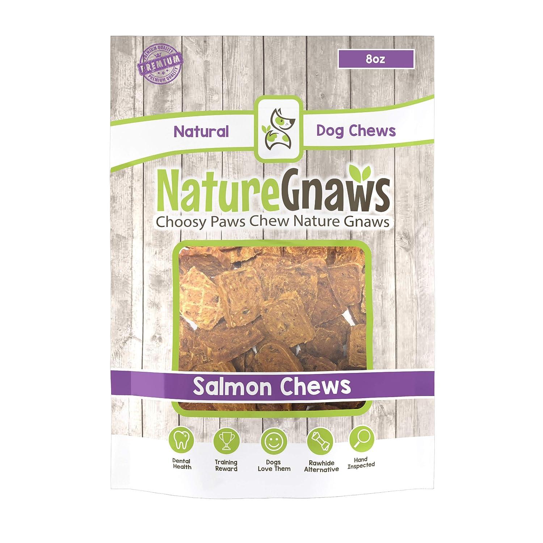 Nature Gnaws Smoked Salmon Jerky Bites – 100 Natural Grain Free Dog Treats