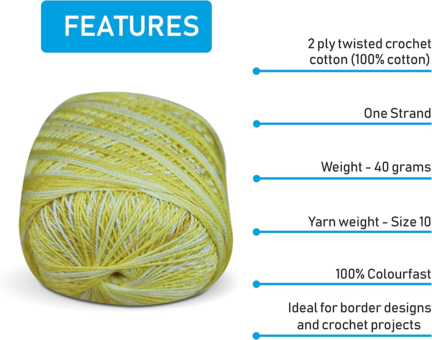 Green Pearl Cotton Balls Thread for Embroidery